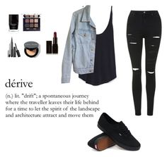 """""""Black Outfit."""" by desireforart ❤ liked on Polyvore featuring Topshop, Zara, American Apparel, Vans, Butter London, Tory Burch, Marc Jacobs, Bobbi Brown Cosmetics and Illamasqua"""