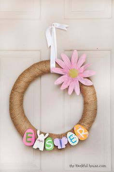 Easy Easter Door Wreath