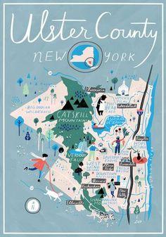 Libby VanderPloeg - Map of Ulster County, New York