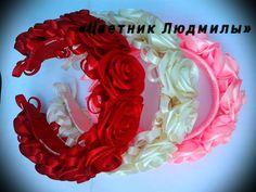 Венок из лент Wreath ribbons МК DIY