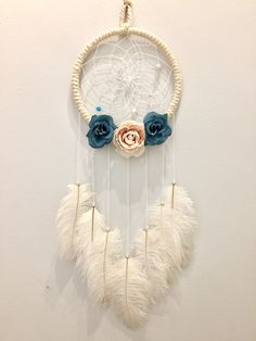 Items similar to Dream Catcher on Etsy Lace Dream Catchers, Beautiful Dream Catchers, Dream Catcher Art, Small Dream Catcher, Diy Arts And Crafts, Diy Crafts, Trending Crafts, Native American Crafts, Master Bedroom Design