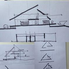 Desenhos estudos Residência MM, Sapucaí Mirim MG. Breve no site www.studiomaisarquitetura.com.br