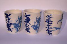 Botanical print ceramics