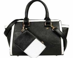 Contrast Trim Bag This bag is perfect for the office. In a staple black but with contrast white piping you will certainly stand out in the style stakes. The detachable wallet is also great to store your mobile or keys. http://www.comparestoreprices.co.uk/handbags/contrast-trim-bag.asp
