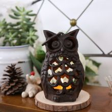 Best Handmade Zakka Creative vintage cast iron Owl Cafe Candlestick Home Decoration Accessories Candle Holders 7.58.513.5cm Reviews - #CandleHolders