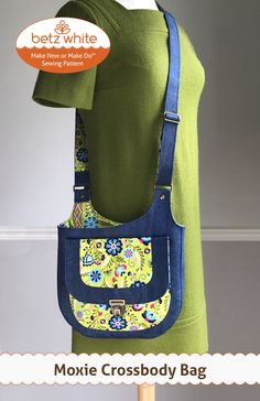 This Moxie Crossbody Bag PDF Sewing Pattern is just one of the custom, handmade pieces you'll find in our patterns & how to shops. Bag Patterns To Sew, Pdf Sewing Patterns, Carry All Bag, Patchwork Bags, Crazy Patchwork, Sewing Leather, Love Sewing, Handmade Bags, Bag Making