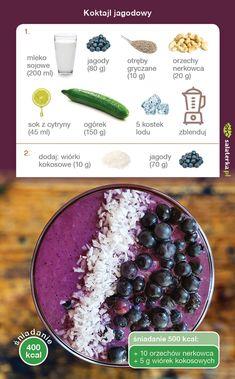 Vegan Recipes, Vegan Food, Food Inspiration, Acai Bowl, Smoothies, Detox, Lunch Box, Drinks, Breakfast Ideas