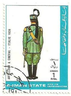 Sello: Artilleryman - Italy 1936 (Ajman) (Military Uniforms) Mi:AJ 1783A