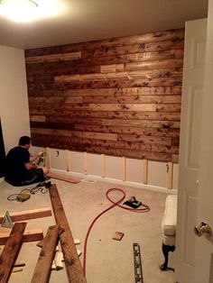 10 Fine ideas: Finished Basement Storage old small basement remodeling.Basement Remodeling On A Budget Pallet Walls basement remodeling on a budget apartment therapy.Basement Remodeling On A Budget Pallet Walls. Pallet Walls, Pallet Furniture, Wooden Pallet Wall, Wooden Wall Bedroom, Man Cave Furniture, Pallet Ceiling, Wooden Wall Decor, Furniture Ideas, Wooden Accent Wall