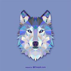 animales geometricos lobo - Buscar con Google