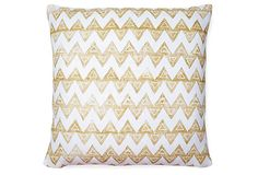 Baxter 20x20 Linen Pillow, Gold on OneKingsLane.com