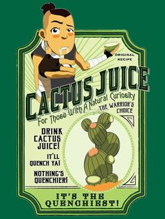 'Drink Cactus Juice' Photographic Print by Christie Porter - Modern Avatar Airbender, Avatar Aang, Suki Avatar, Avatar The Last Airbender Funny, The Last Avatar, Avatar Funny, Team Avatar, Geek Culture, Avatar Fan Art