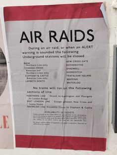 Poster from the wall of the disused Tube Station, Aldwich