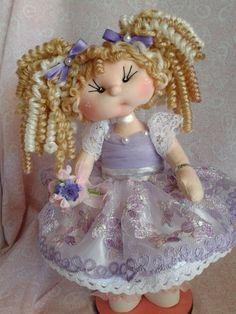 muñeca kuki de colección, hecha a mano Soft Dolls, Little People, Softies, Doll Patterns, Harajuku, Sculpture, Christmas Ornaments, Holiday Decor, Beautiful