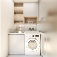 20 Brilliant Laundry Room Ideas for Small Spaces - Practical & Efficient : Life-changing small laundry room design plans Hobby Design, Diy Design, Design Ideas, Small Laundry Rooms, Small Living Rooms, Home Living Room, Basement Storage, Laundry Room Organization, Closet Storage