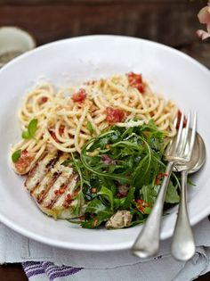 Grilled tuna with tomato spaghetti | Jamie Oliver