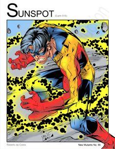 Sunspot III (Marvel Comics) New Mutants by Nickolas Lane