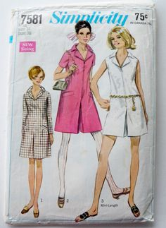 Pants Dress Pattern Culottes 1960s Retro Hippy by WildPlumTree, $5.00. I had this in orange.
