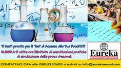 Ti senti pronto per affrontare il Test d'Ingresso della tua Facoltà? Metti alla prova le tue conoscenze con le prove d'esame di Eureka! Ti offriamo ORE ILLIMITATE DI ESERCITAZIONI PRATICHE di simulazione della Prova d'Esame! Vieni a trovarci in Via Nicolai, 47 a Bari o contattaci a: info@eurekaesami.com - Tel. 080.523 3603  #Eureka #eurekaesami #labuonascuola #preparazione #esami #test #university #università #italy #italia #aiuto #help #contattaci #TestOK
