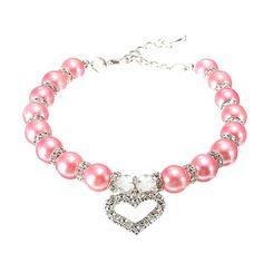 Cheap necklace mother, Buy Quality necklace roman directly from China collar necklace metal Suppliers: Rhinestone Heart Pendant Puppy Dog Pearls Necklace Collars For Pets Small Animals Jewelry Accessories Dog Necklace, Necklace Price, Collar Necklace, Pearl Necklace, Pet Fashion, Animal Fashion, Colar Fashion, Fashion Necklace, Fashion Jewelry