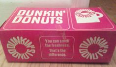 The old Dunkin' Donuts box