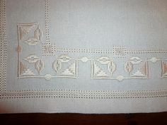 This Pin was discovered by tuğ Types Of Embroidery, Learn Embroidery, White Embroidery, Ribbon Embroidery, Embroidery Patterns, Drawn Thread, Hardanger Embroidery, Satin Stitch, Embroidery Techniques