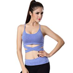 0853c2b161e9b Sexy Quick Dry Women s Girls Yoga Sports Bra Fitness Clothing Sports Vest