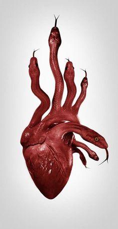 66 Ideas For Creepy Drawings Dark Art Demons Eyes Scary Movies, Horror Movies, Rock Poster, Snake Art, Foto Art, Red Aesthetic, Heart Art, Surreal Art, American Horror