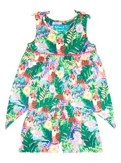 Add a touch of pattern to their summer wardrobe with this tropical-inspired set, which features a top with an asymmetrical hem and shorts. Multicoloured tiger beach set Sleeveless Asymmetrical hem Stretch waist Keep away from fire Girls Fashion Clothes, Girl Outfits, Girls Rompers, Summer Wardrobe, 6 Years, Baby Kids, Summer Dresses, Shorts, Pattern