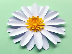 Very beautiful DIY paper flower Template, daisy / gerbera SVG and PDF files to make #paperflowers