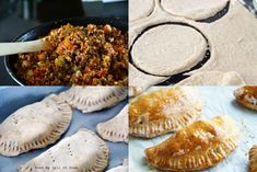 Kasvispiiraat (alkuperäinen ohje lihalle) No Bake Desserts, Feta, Bread, Cookies, Baking, Crack Crackers, Patisserie, Biscuits, Bakken