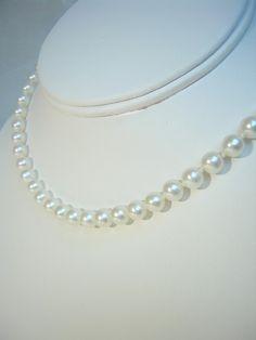 17 inch Classic White Freshwater Pearl by RLGemstoneElegance, $169.99