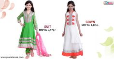 Basil Leaf Party Wear Green Churidar #Suit & #Gown for #Kids at Planeteves.com. Find best deals & offers on Baby  Girls Clothes with Free Home Delivery. Place Order - 18001024333.  Click Here => http://goo.gl/gqtKQI