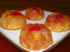 Pineapple Upside Down Cupcakes - oh boy, do these look so delicious...