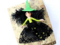 Witch Doll Pins / Brooches  HeartStrings