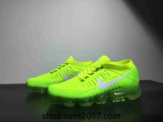 Nike Air VaporMax 2018 Flyknit Fluorescent Green Shoes by Jimmy Jonson Nike Kwazi, Nike Air Vapormax, Nike Shoes Outfits, Nike Free Shoes, Ankle Sneakers, Air Max Sneakers, Nike Air Max Running, Best Trail Running Shoes, Nike Free Runners