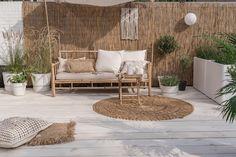 Groen in de tuin Outdoor Spaces, Outdoor Living, Outdoor Decor, Ideas Terraza, Boho Dekor, Interior And Exterior, Interior Design, Terrace Design, Beach House Decor