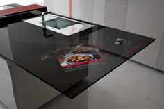 High-Tech Kitchen Design With Integrated Samsung Galaxy Tablet | Pursuitist