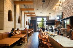 Restaurante Cowiche Canyon e Bar Icehouse / Graham Baba Architects Restaurant Exterior Design, Cafe Interior Design, Interior Sketch, Seattle Architecture, Architecture Details, Interior Architecture, Sketch Bar, Graham, Commercial Architecture