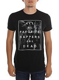 HOTTOPIC.COM - Favorite Rappers Are Dead Slim-Fit T-Shirt Sz S