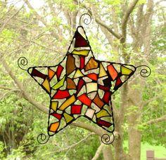 Star Suncatcher,  Mosaic Stained Glass