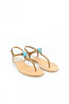 Isolde sandal in tan Dolce Vita