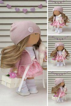 Fabric doll Textile doll Muñecas Handmade por AnnKirillartPlace