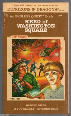 1983 fine copy of Dungeons & Dragons Endless Quest #7 Hero of Washington Square