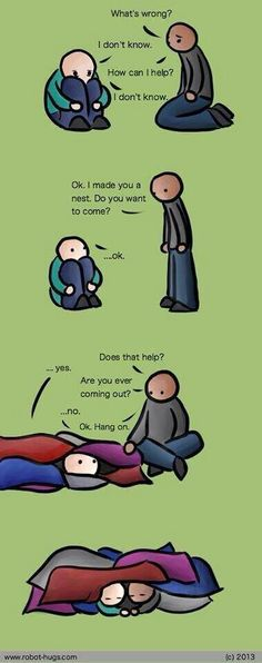 """I have seen so many pins on """"how to treat an introvert/INFJ"""" and things like that and they're full of bs. THIS is the best, most accurate one I think I will ever see. I might go as far as to make myself this nest on my living room and bedroom floor. Helping Someone With Depression, Depression Help, Depression Support, Depression Hurts, How To Battle Depression, How To Explain Depression, Thoughts, Introvert, Wise Words"""