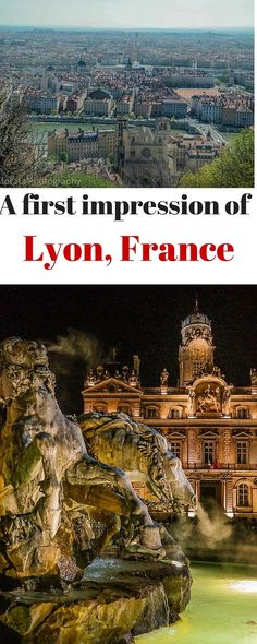 A first impression of Lyon, France. A highlight tour of the main attractions, landmarks and scenic vista points of this beautiful city south of Paris http://travelphotodiscovery.com/a-first-impression-of-lyon-france/
