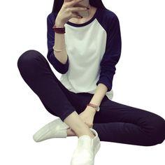 Women Loose Long Sleeve Casual Sweatshirt Pullover Jumpers 4 Size M L XL XXL