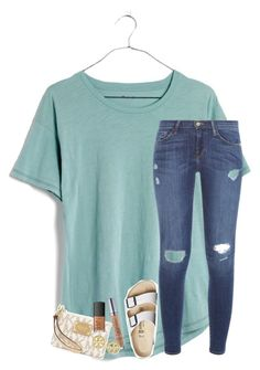 """""""SeaWorld was"""" by daydreammmm ❤ liked on Polyvore featuring Madewell, MICHAEL Michael Kors, Frame Denim, Urban Decay, Birkenstock, NARS Cosmetics and Tory Burch"""