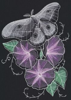 Nocturnus - Moth | Urban Threads: Unique and Awesome Embroidery Designs