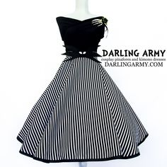Jack Skellington DIsneybound Dapper Days Vintage Pinup Circle Skirt | Darling Army